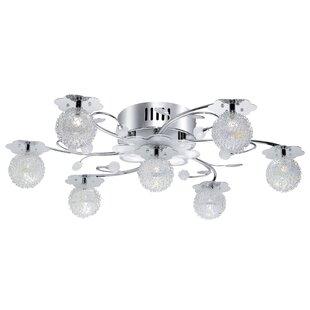 Ceiling fan light kits youll love wayfair 7 light led branched ceiling light aloadofball Choice Image