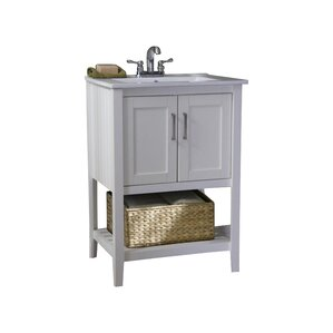 Olivia 24 Single Bathroom Vanity Set With Basket