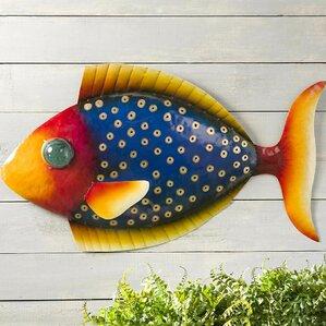 Metal Fish Wall Decor school of fish metal wall art | wayfair