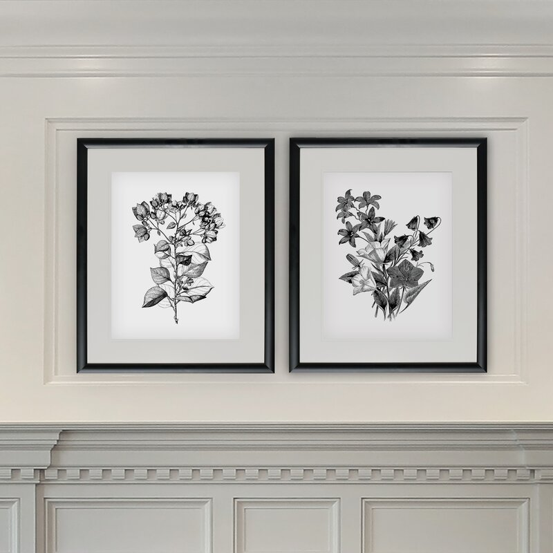 Ophelia Amp Co Botanical Black And White 2 Piece Framed