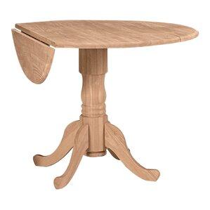 Round Pedestal Kitchen Table pedestal kitchen & dining tables you'll love | wayfair