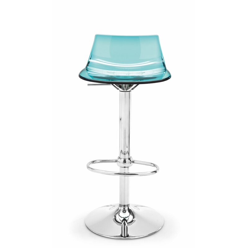 Led Adjustable Height Swivel Bar Stool