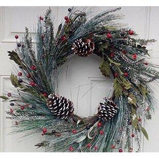 Attirant Snowy Morning Winter Door Wreath