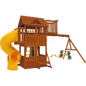 Abbeydale Clubhouse Wooden Swing Set