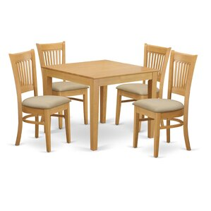 Oxford 5 Piece Dining Set by East West..