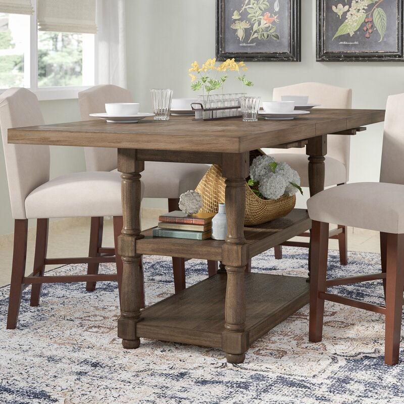 farmhouse counter height table Laurel Foundry Modern Farmhouse Fortunat Counter Height Extendable  farmhouse counter height table