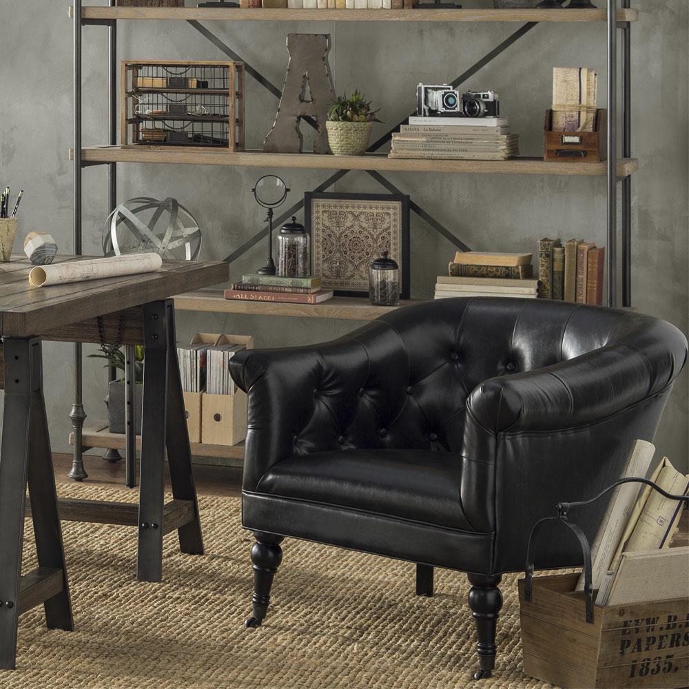 Industrial furniture table Steel Industrial Accent Furniture Wicker Emporium Industrial Furniture Decor Joss Main