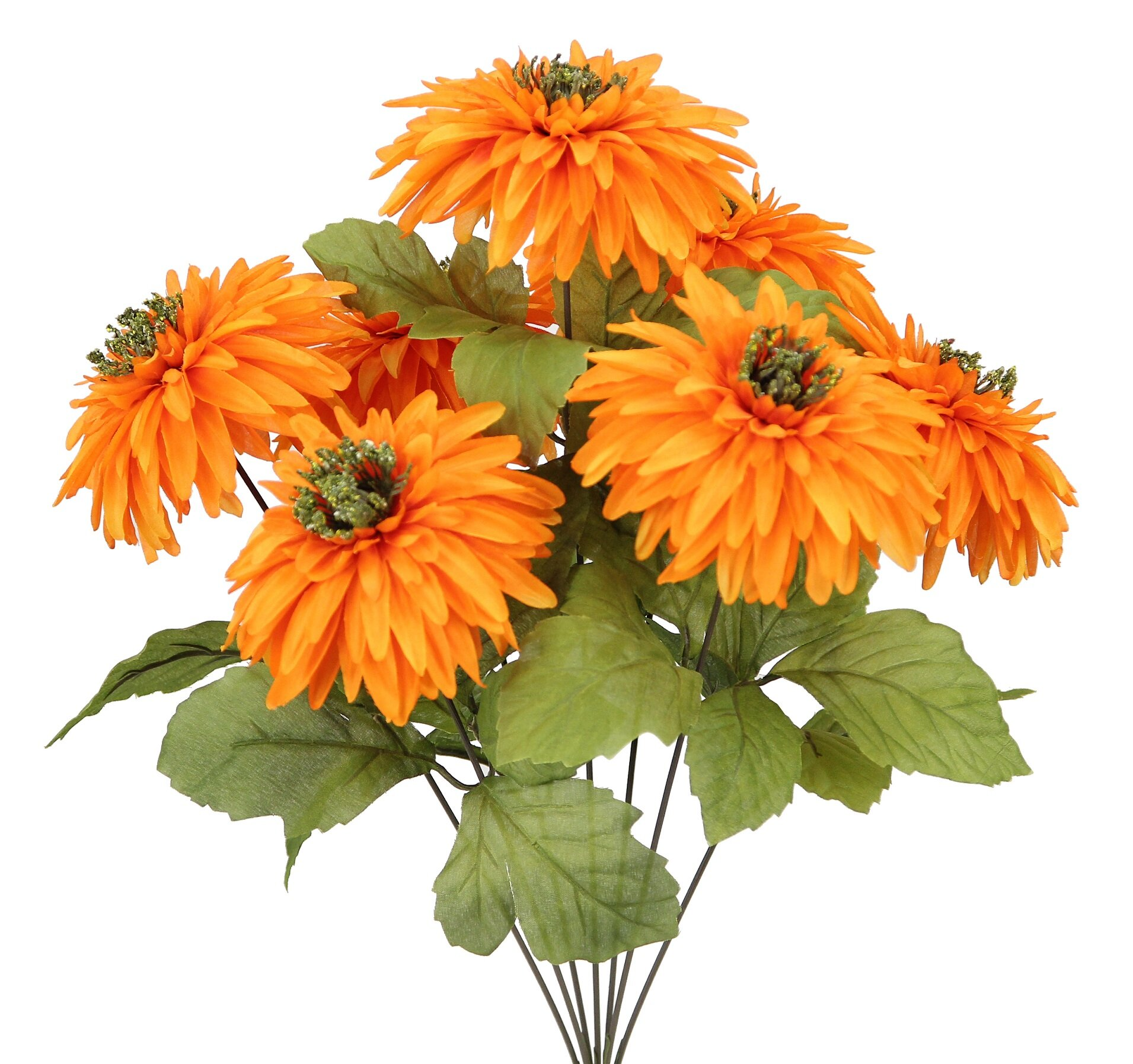 Admiredbynature 7 Stems Artificial Mum Flowers Bush For Home Office