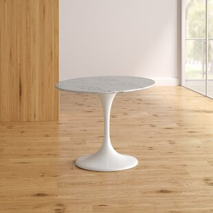 Kylee Artificial Marble Oval-Shaped Dining Table Reviews