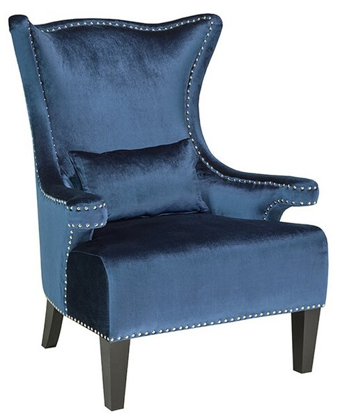 Willa Arlo Interiors Clarkston Nail Head Trim Wingback Chair | Wayfair