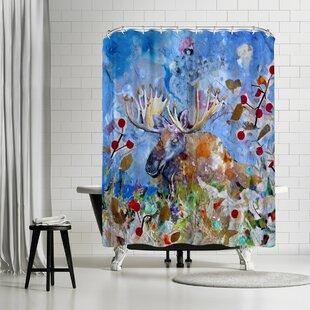 Sunshine Taylor Moose Shower Curtain