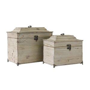 2-tlg. Aufbewahrungsboxen-Set von Vical Home