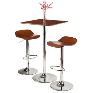 Kallie 3 Piece Pub Table Set by Luxury Home