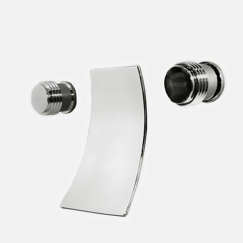 Kokols Double Handles Wall Mount Tub Faucet & Reviews | Wayfair