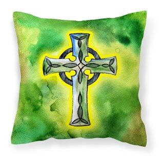Celtic Cross Indoor Outdoor Throw Pillow