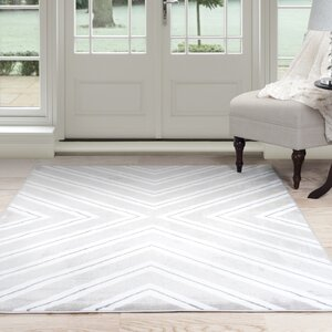 Kaleidoscope Gray/White Area Rug