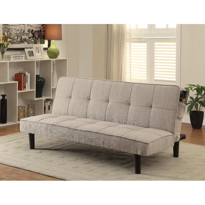 bed com dp tufted modern plush fabric linen sofa futon sleeper kitchen dining convertible amazon ohlvxdl