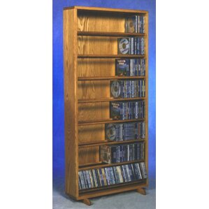 800 Series 440 CD Dowel Multimedia Storage Rack by Wood Shed