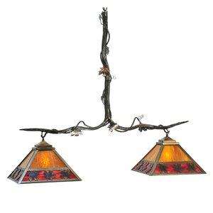 Maple Leaf 2-Light Kitchen Island Pendant