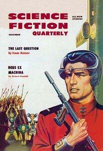 'Science Fiction Quarterly: Astronaut Sizes up the Aliens' Vintage Advertisement