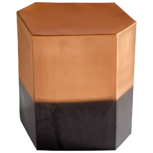 Golden Hunk End Table by Cyan Design