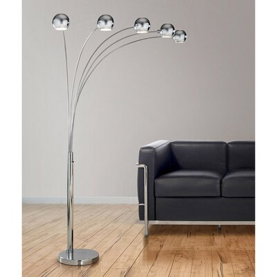 Griego 89 LED Arched Floor Lamp by Brayden Studio  Today
