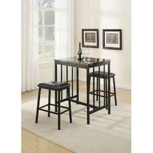 Clapton 3 Piece Counter Height Dining Set