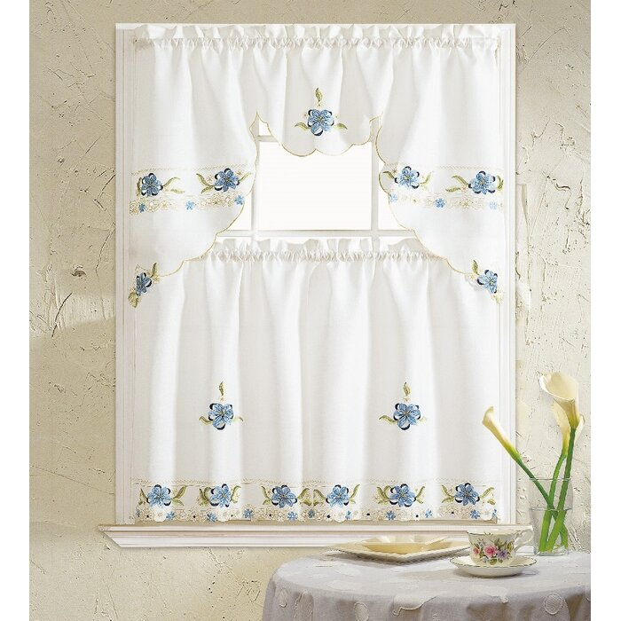 Polsky 3 Piece Kitchen Curtain Set