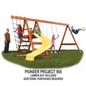Ready to Build Custom Pioneer DIY Swing Set Hardware Kit - Project 150