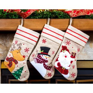 e154224a2 Snowman   Snowflake Stockings You ll Love