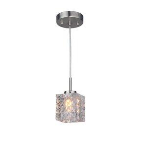 Sadowski 1-Light Metal/Glass Mini Pendant