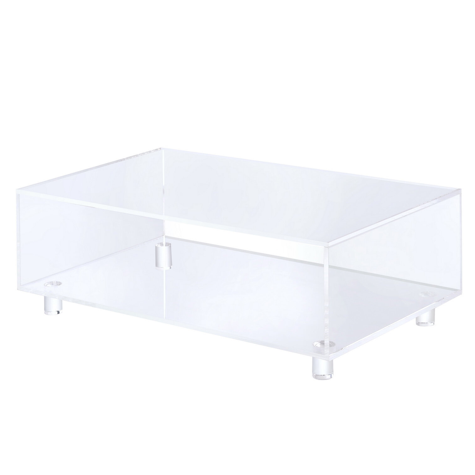 glass side modern table dot blu coffee rectangular cub