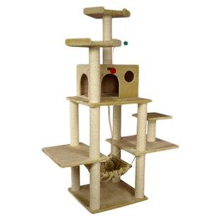72   classic cat tree cat condo with hammock   wayfair  rh   wayfair
