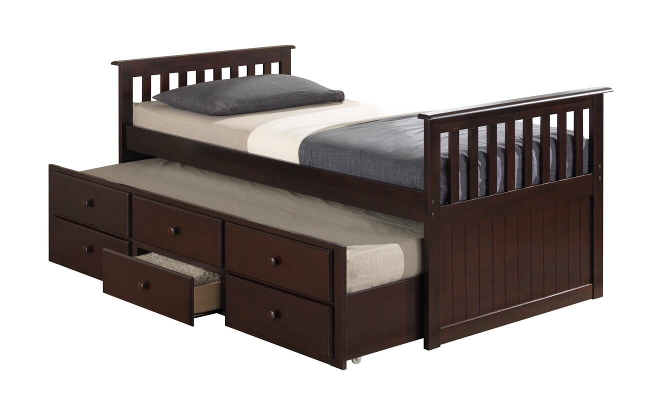 broyhill kids marco island captain 39 s bed with trundle bed and drawers reviews wayfair. Black Bedroom Furniture Sets. Home Design Ideas