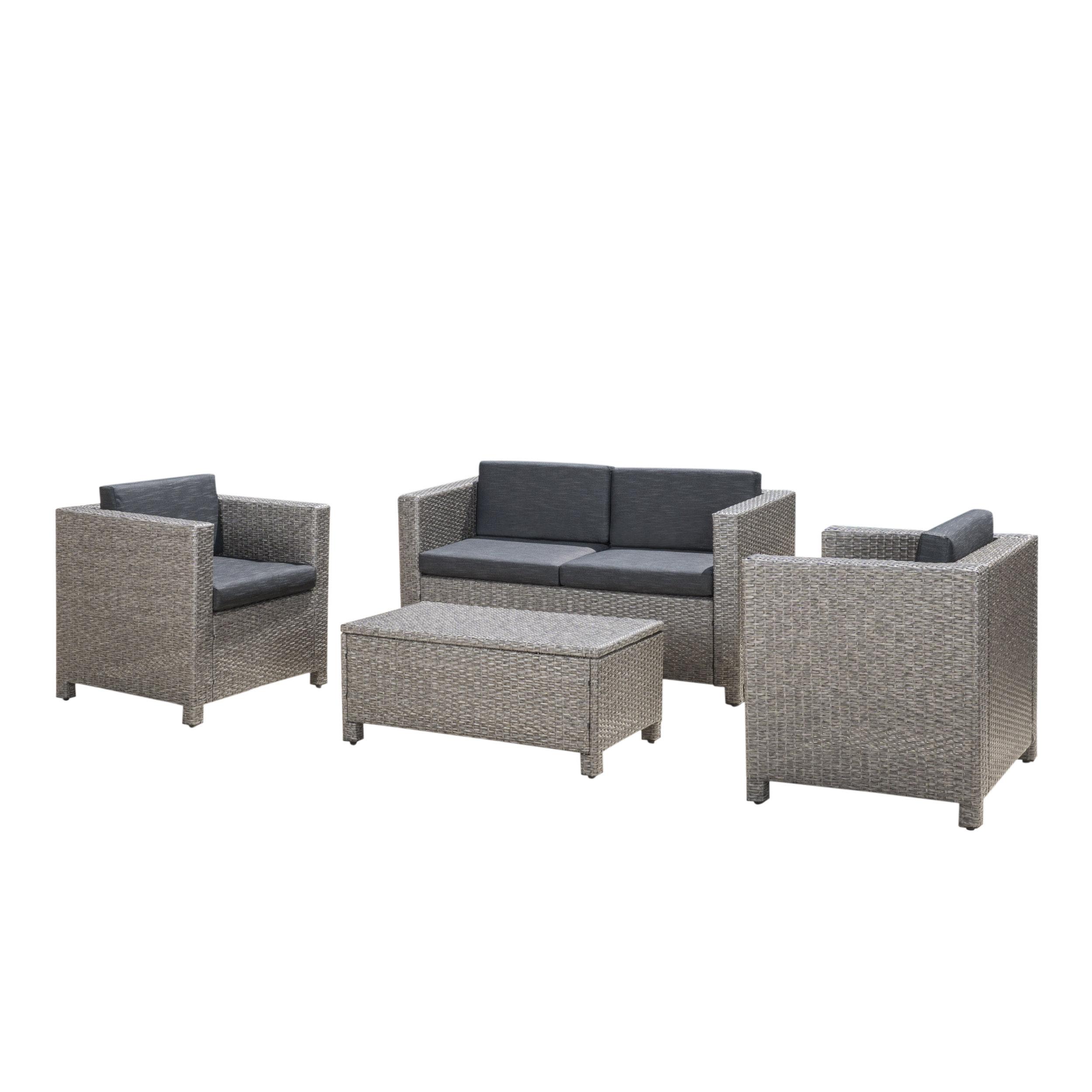 Ka 4 Piece Rattan Sofa Seating Group With Cushions Reviews Allmodern