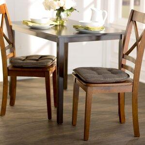 wayfair basics gripped chair cushion set set of 4. beautiful ideas. Home Design Ideas
