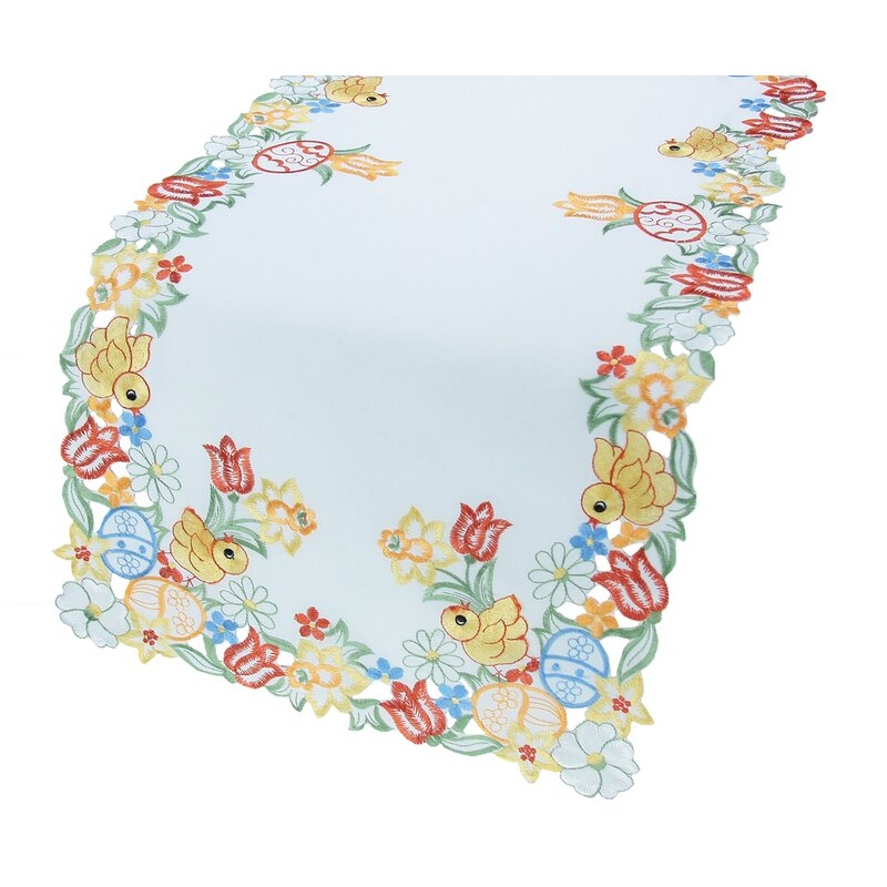 Spring S Embroidered Cutwork Easter Table Runner