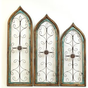 Gothic 3 Piece Architectural Window Wall Decor Set