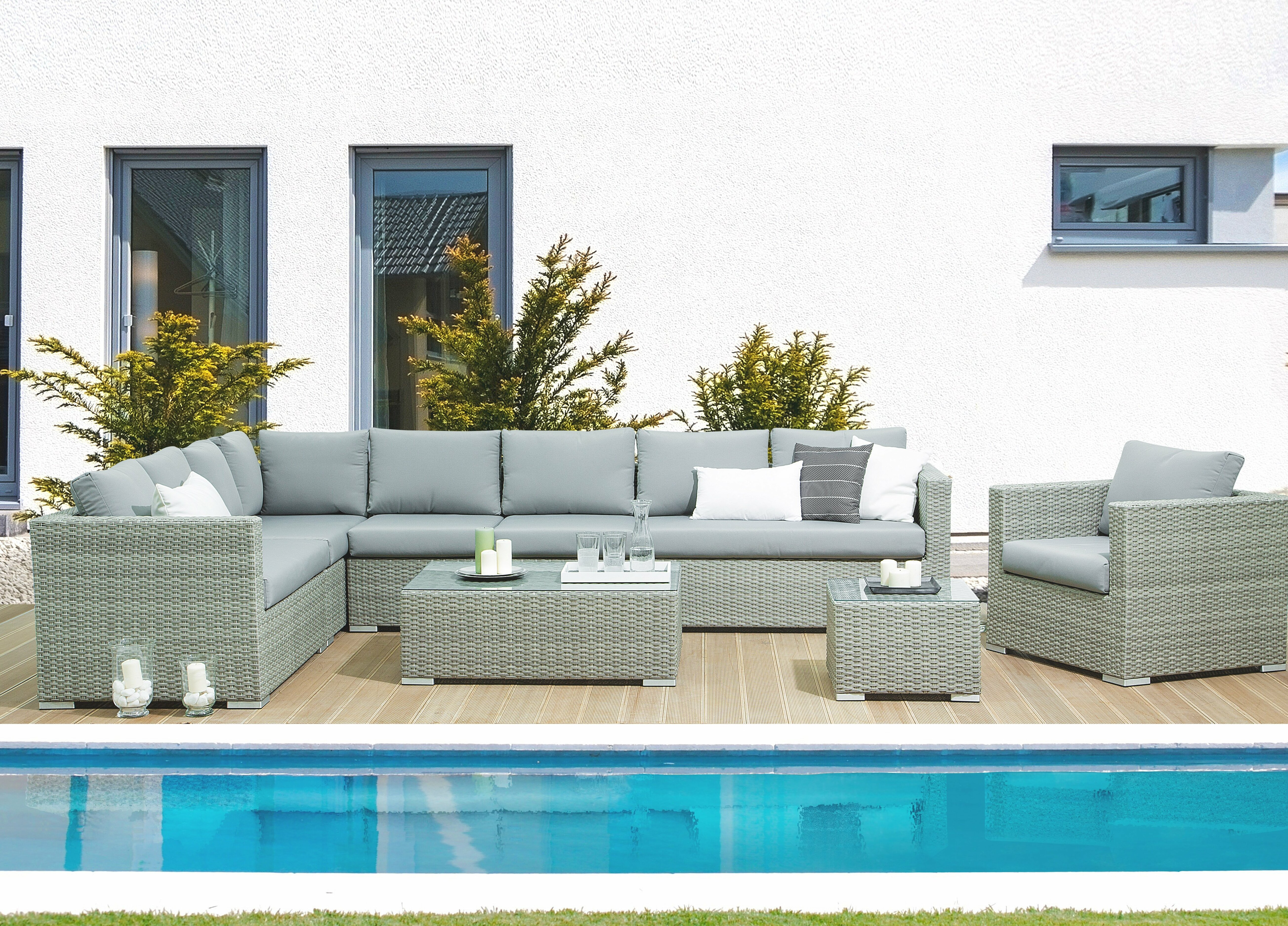Brayden Studio Driscoll 4 Piece Rattan Sectional Seating Group With Cushions Wayfair