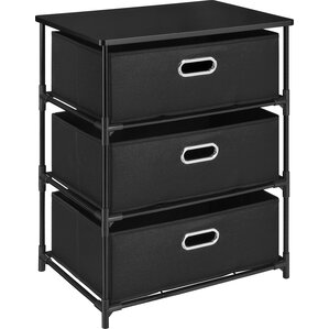 Bohnsack 3 Drawer Storage End Table by Ebern Designs