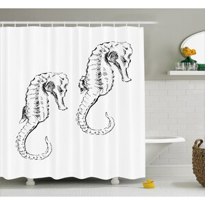 roxanna sketchy ocean fish shower curtain