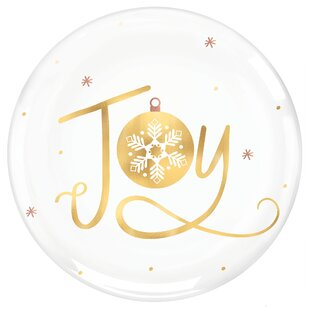 Christmas Joy Decorative Plate Set Of 4