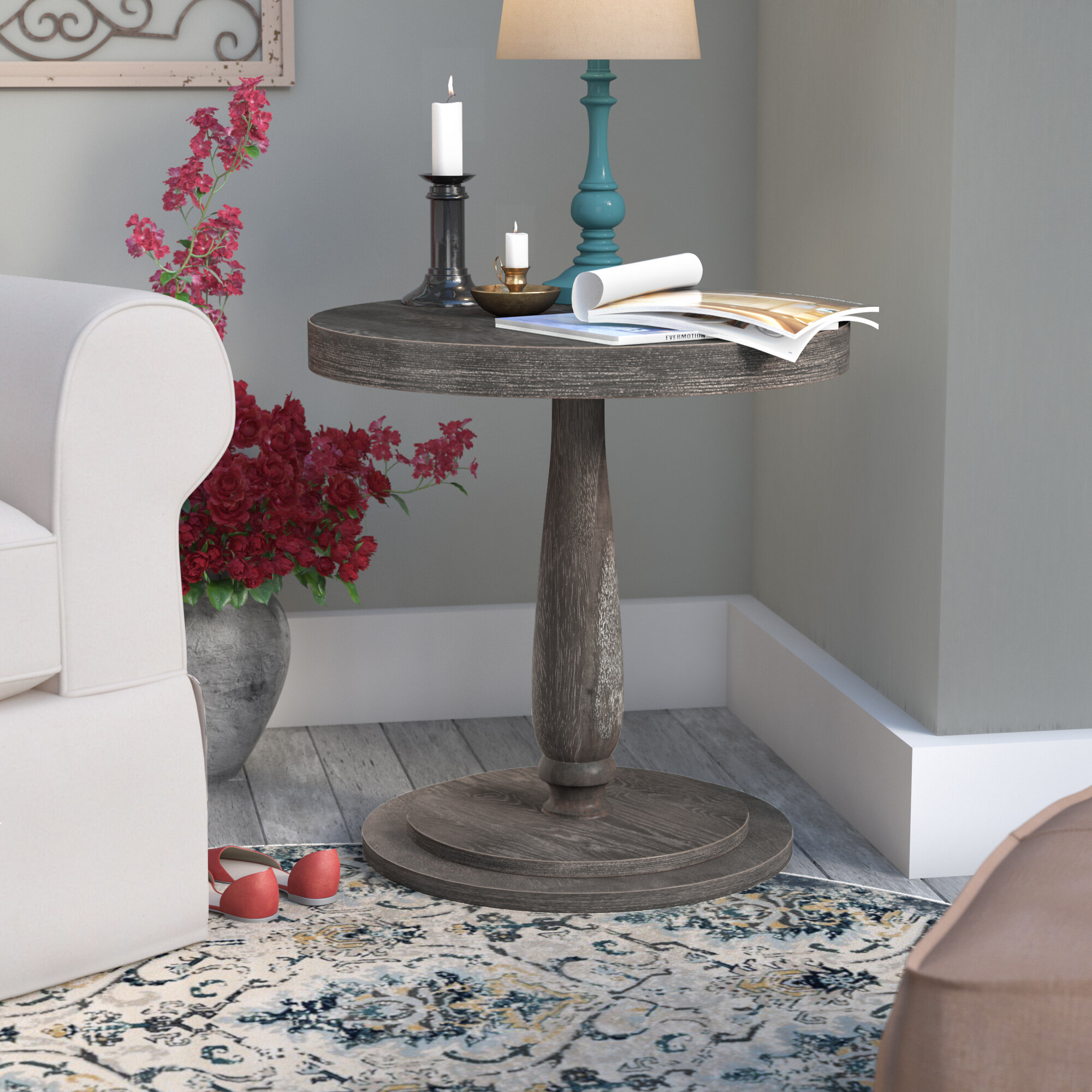 design by brookfield ashley b furniture table pedestal end signature round products number tables item