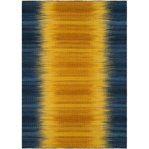 Sojourn Hand-Woven Dark Blue/Yellow Area Rug