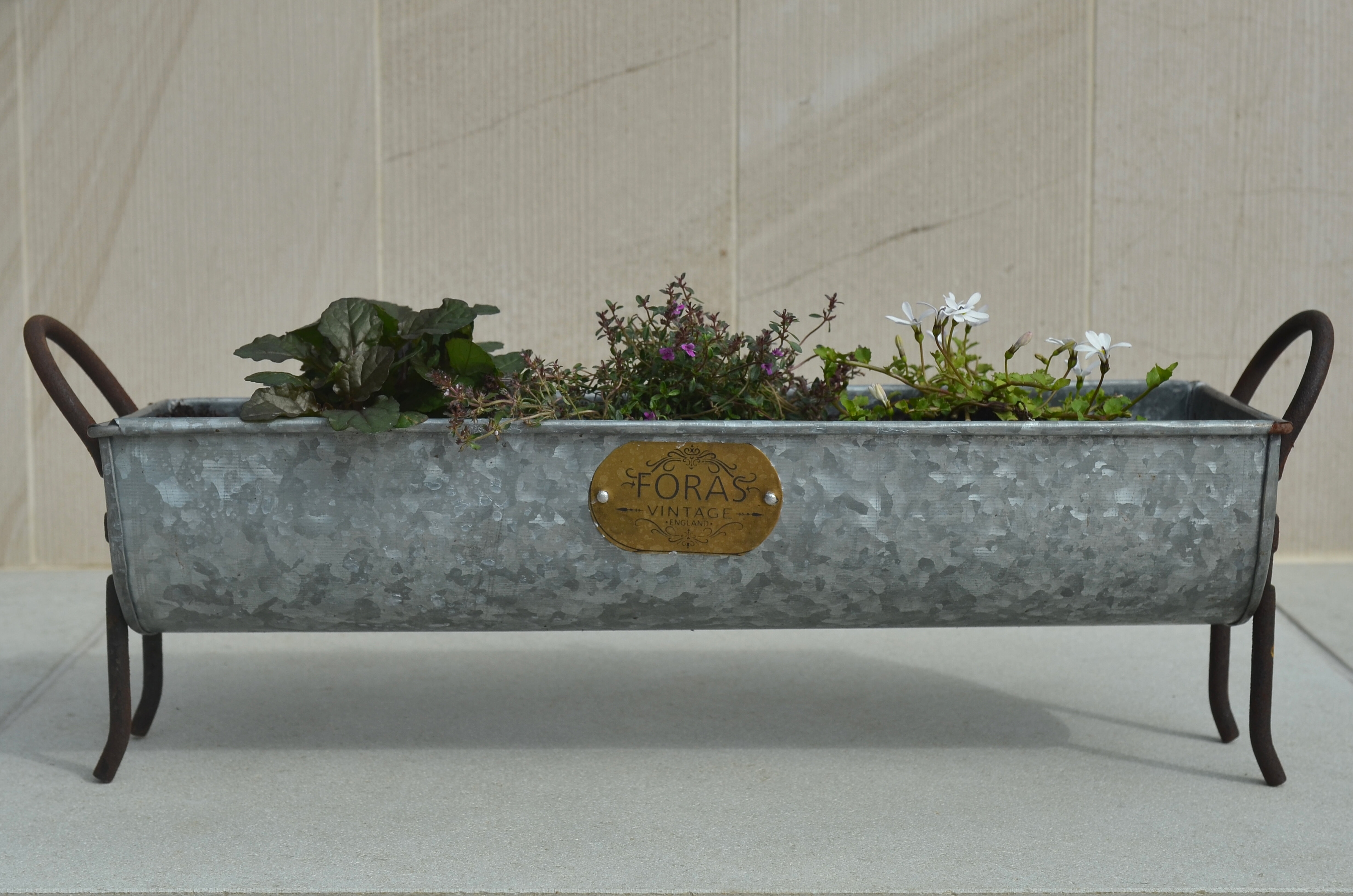 Foras Snuffle Vintage Planter Box & Reviews   Wayfair.co.uk on round corrugated planters, wall mounted planters, aluminum planters, iron planters, plastic planters, corrugated raised planters, window boxes planters, urn planters, chrome planters, large planters, lead planters, copper finish planters, old planters, resin planters, bucket planters, pewter planters, stainless steel planters, stone planters, long rectangular planters, tall planters,