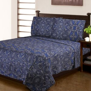 Burkes 300 Thread Count Paisley 100% Cotton Sheet Set