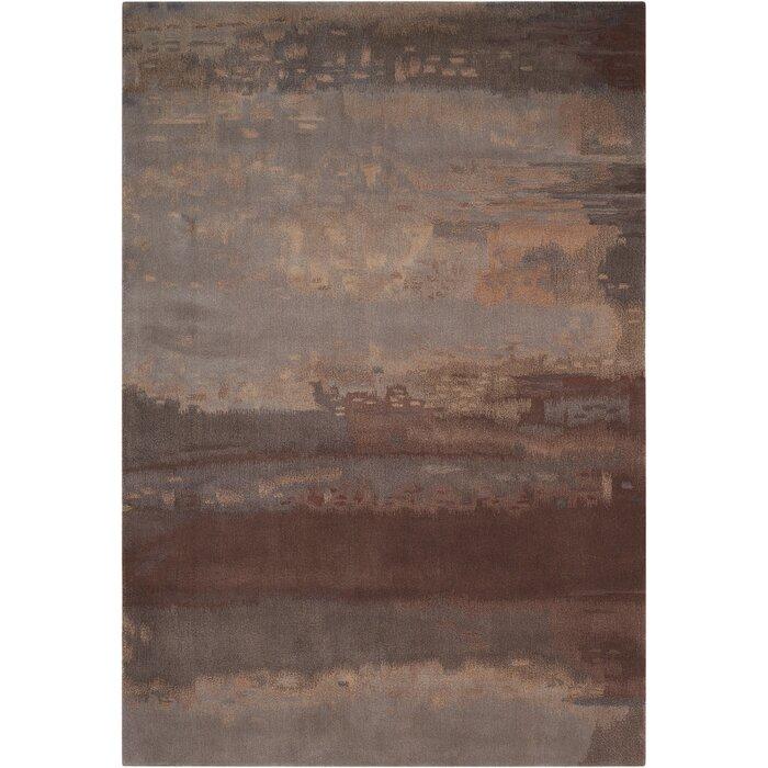 lustre wash hand woven wool slatebrown area rug