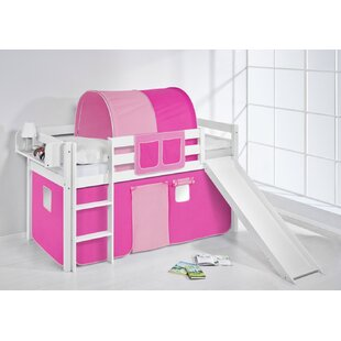 Jelle European Single Mid Sleeper Bed with Bottom Bunk Curtain by Just Kids