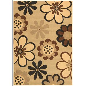 Short Natural Brown/Black Rug