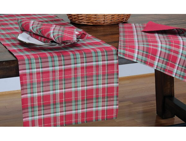 The Holiday Aisle Holiday Tartan Christmas Table Runner U0026 Reviews | Wayfair